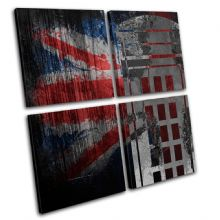 Union Jack Grunge Post Box Urban - 13-6073(00B)-MP01-LO